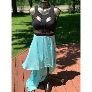 Cut-Out High Low Dress
